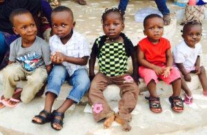 Post-op 5 cleft lip children